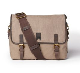Navigator Waxed Canvas Messenger Bag - Charcoal Grey