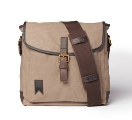 Shipwright Waxed Canvas Satchel Bag - Charcoal Grey